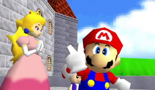 Mario showing victory sign