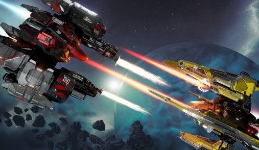 EVE Valkyrie Warzone spaceships face to face