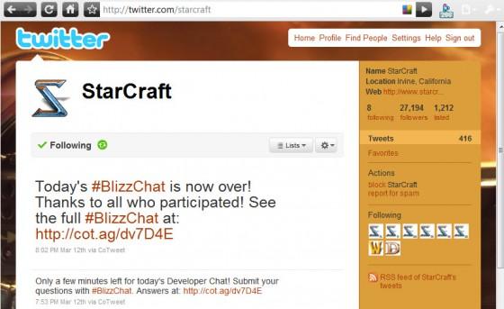 Twitter по StarCraft